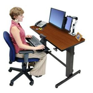 24271927 Ergotron 174 Workfit D Sit Stand Desk Walnut