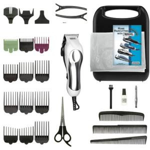 Wahl White/Chrome Pro 27 Pc - Haircutting Kit 795246001
