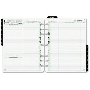 image relating to Planner Refills named 94010 Working day-Timers, Inc® 2ppd Free-leaf Authentic Planner Refills DTM94010