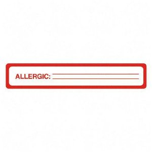 Tabbies Allergy Label 40561