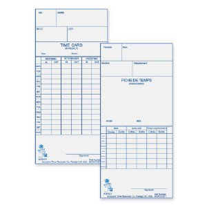 Acro Print Time Recorder Weekly/Bi-Weekly Time Card 099110000