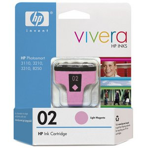 Hewlett Packard Hp 02 Light Magenta Ink Cartridge C8775WN140