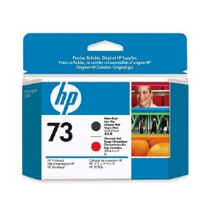 Hewlett Packard Hp 73 Matte Black And Chromatic Red Printhead CD949A