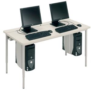 Bretford Manufacturing Basic Quattro Qft2484 Voltea Flip Top Computer Table QFT2484GMT