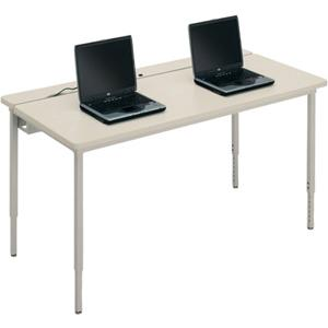 Bretford Manufacturing Basic Quattro Qft3072 Voltea Flip Top Computer Table QFT3072GMT