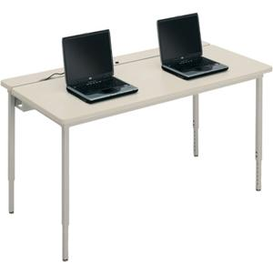 Bretford Manufacturing Basic Quattro Qft2472 Voltea Flip Top Computer Table QFT2472GMC