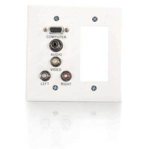 C2g Classic Decora Style Double Gang Audio/Video Faceplate 41028