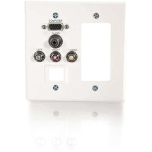 C2g Classic Audio/Video Faceplate 41030