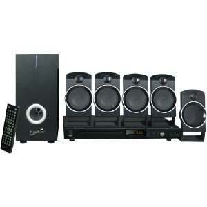 Supersonic 5.1 Channel DVD Home Theater System with USB Input & Karaoke Function SC37HT