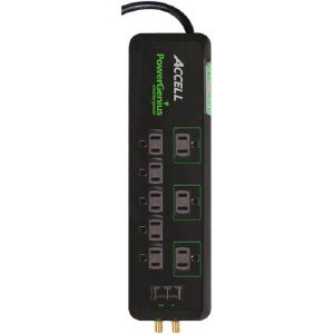 ACCELL PowerGenius 8 Outlet Home Theater Smart Surge Protector D080B020K