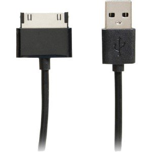 4xem 6ft 30-Pin To Usb 2.0 Cable For Iphone/Ipod/Ipad (Black) 4XU2APPL6FTBK