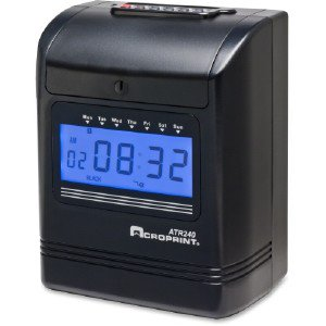 Acro Print Time Recorder 2-Color Print Top-Loading Punc 010270001