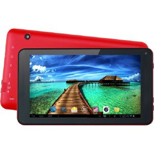 SUPERSONIC 7' Android 4.4 Touchscreen Tablet With Quad Core Processor SC4207RED