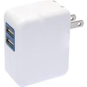 4xem Universal USB Power Adapter/Wall Charger for all USB devices 2port 4XUSBCHARGER2