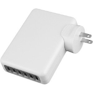 4xem Universal USB Power Adapter/Wall Charger for all USB Devices 6Port 4XUSBCHARGER6