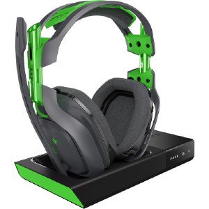 9b898983ea6 Astro A50 Wireless Headset + Base Station - Stereo - Green, Gray - Wireless  - 30 ft - 20 Hz - 20 kHz - Over-the-head, Over-the-ear - Binaural -  Circumaural ...