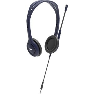 816ddd6aae1 Logitech Wired 3.5 mm Headset with Microphone - Stereo - Blue - Mini-phone  - Wired - 70 Hz - 9 kHz - Over-the-head - Binaural - Supra-aural - 4.30 ft  Cable ...