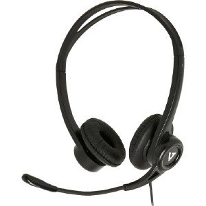 V7 Hu311 2np Headset Stereo Black Usb Wired 32 Ohm 20 Hz 20 Khz Over The Head Binaural Supra Aural 5 91 Ft Cable Noise Cancelling Omni Directional Microphone 662919103120