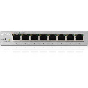 GS1200-8 | Zyxel® Zyxel 8-port Gbe Web Managed Switch - 8 Ports -  Manageable - 2 Layer Supported - Twisted Pair - Desk Gs12008