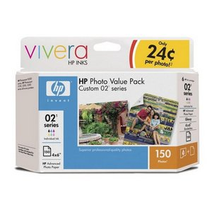 Hewlett Packard Hp 02 Series Photo Value Pack Q7964AN140