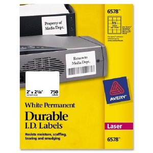 avery dennison label templates - 6578 avery dennison permanent durable i d label ave6578