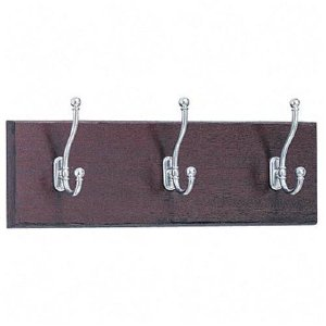 Safco Products 3-Hook Wood Wall Racks 4216MH