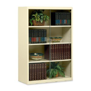Tennsco Corp Heavy-Guage Steel Bookcase With Glass Doors 352GLPY