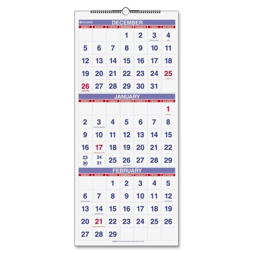 Pm1128 At A Glance 174 3 Months Reference Wall Calendar