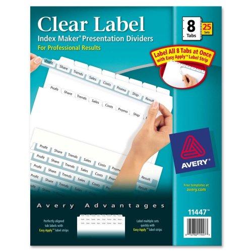 11447   Avery Dennison® Index Maker Clear Label Divider AVE11447