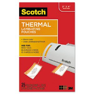 Scotch Thermal Laminating Pouches Bag Tags With Loops