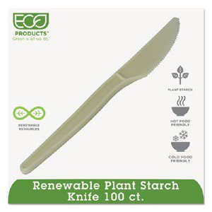 Eco-Products,inc. Plant Starch Knife, Cream, 50/Pack EPS001PK ECOEPS001PK pg.484.