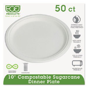 Eco-Products,inc. Sugarcane Fiber Plates EPP005PK
