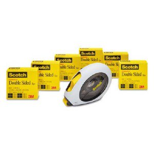 3m 665 Double-Sided Office Tape W/Hand Dispenser, 1/2' X 900', 6 Rolls MMM6656160 pg.7997.