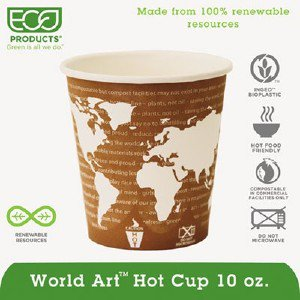Eco-Products,inc. World Art Hot Beverage Cups EPBHC10WAPK