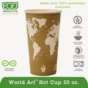 Eco-Products,inc. World Art Hot Beverage Cups EPBHC20WAPK