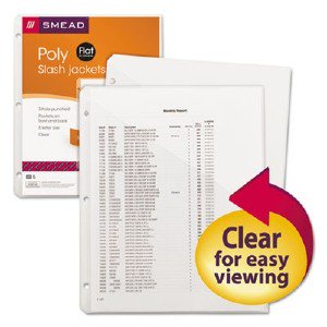 Smead Manufacturing Company 89506 Clear Poly Translucent S