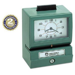 Acro Print Time Recorder Model 125 Time Clock 01107040A