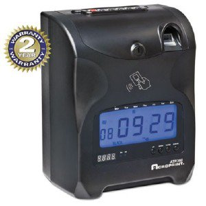 Acro Print Time Recorder Biometric Fingerprint Time Clock, Black/Red Ink, 6 X 5 X 9 ACP010270000 pg.1537.