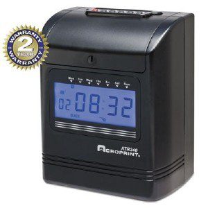 Acro Print Time Recorder 2-Color Print Top-Loading Punch Clock 010270001