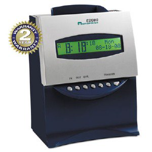Acro Print Time Recorder Es1000 Tme Clock & Recorder 010215000