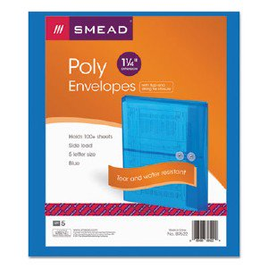 Smead Manufacturing Company 89522 Blue Poly Envelopes With