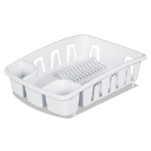 Office Settings Drain Rack, White 17.625'D x 13.375'W x 5.375'H DR01WH