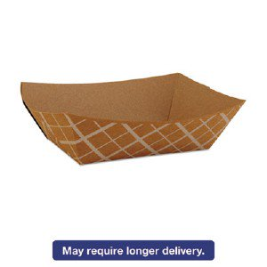 SOUTHERN CHAMPION TRAY Paper Food Baskets, Brown/White Check, 1 Lb Capacity, 1000/Carton SCH 0513 SCH0513