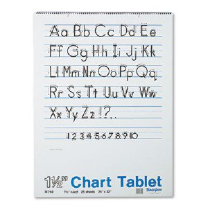 Pacon Corporation Ruled Manuscript Chart Tablets 74710