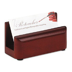 Rolodex Wood Tones Business Card Holder 23330