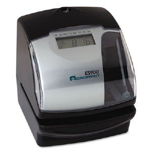 Acro Print Time Recorder Es900 Time Clock & Recorder 010209000