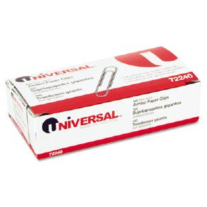 Universal Office Products Nonskid Paper Clips, Wire, Jumbo, Silver, 100/Box UNV72240BX pg.7997. DPS03513