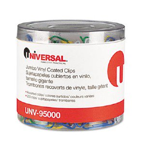Universal Office Products Paper Clips, Vinyl Coated Wire, Jumbo, Assorted Colors, 250/Pack UNV95000 pg.666. SPR01604 EXP90003J